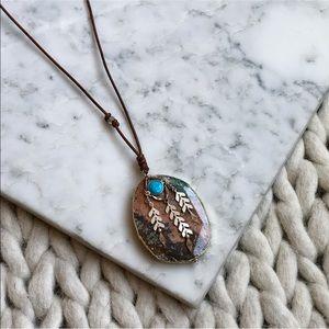 Chan Luu Stone Turquoise Boho Pendant Necklace